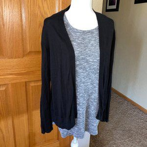 Old Navy black sz L Short Cardigan Sweater Light